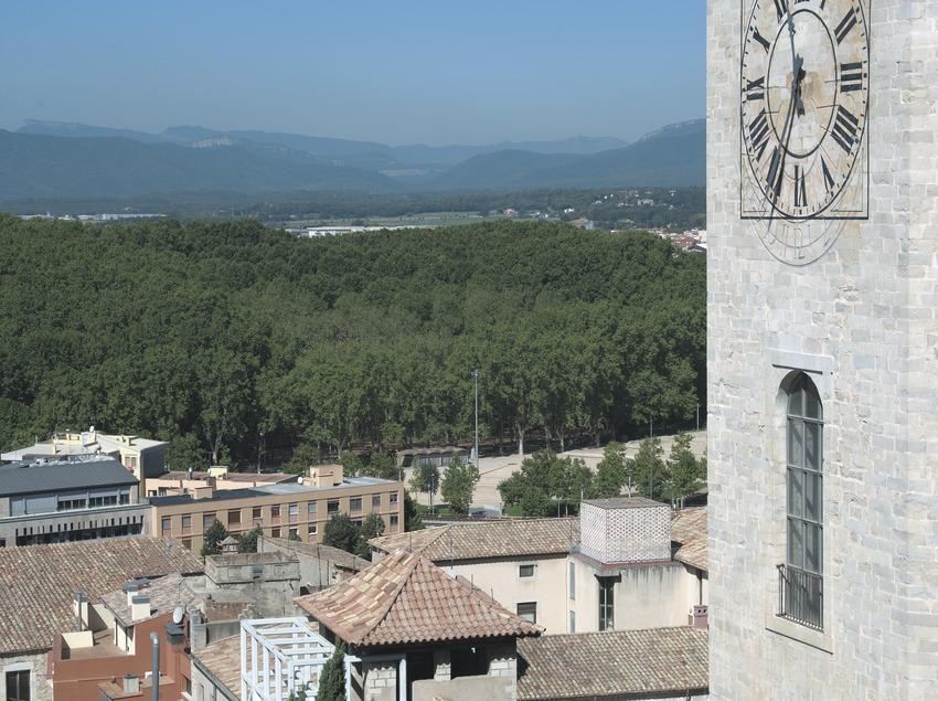 Vista de la Pia Almoina i el Parc de la Devesa des de la Catedral  (Servicios Editoriales Georama)