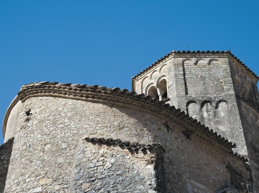 Vista posterior de l'església del monestir de Sant Daniel  (Servicios Editoriales Georama)