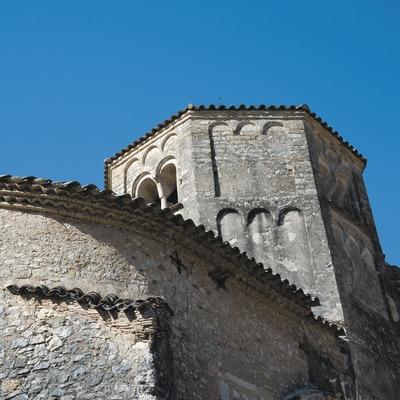 Vista posterior de la iglesia del monasterio de Sant Daniel  (Servicios Editoriales Georama)