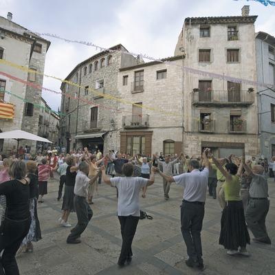 Baile de sardanas en la Plaza de la Llibertat  (Servicios Editoriales Georama)