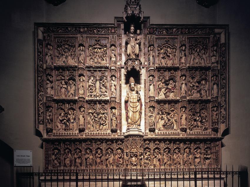 Retablo de la Virgen y San Pedro. Catedral de Sant Pere. (Imagen M.A.S.)