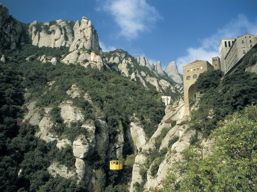 Aerial view of Montserrat.