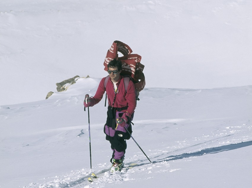 Esquí de muntanya a la Vall de Núria.