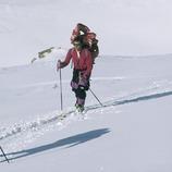 Esquí de montaña en el Valle de Núria.