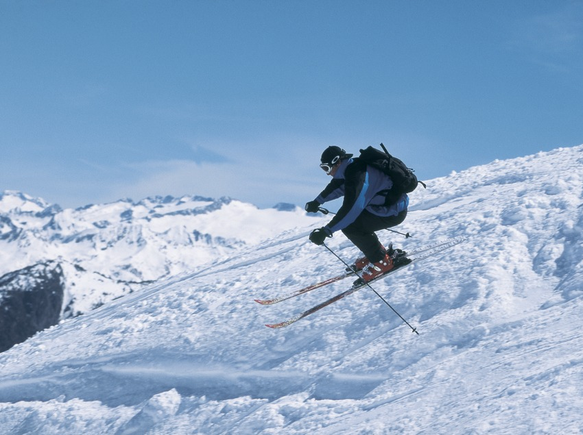 Alpine skiing. Port Ainé.