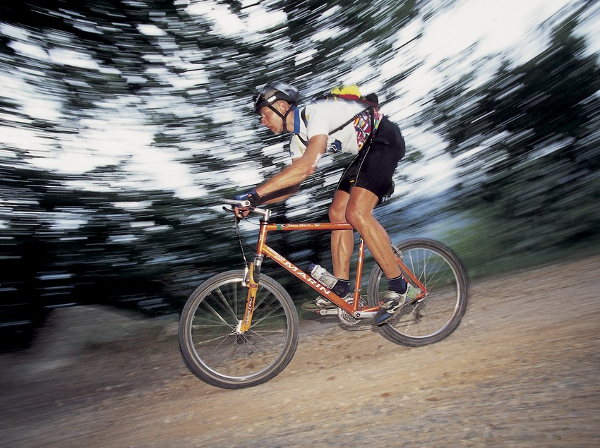 Bicicleta de montaña. Velocidad.