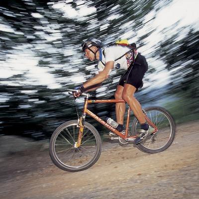 Mountain biking. Speed.