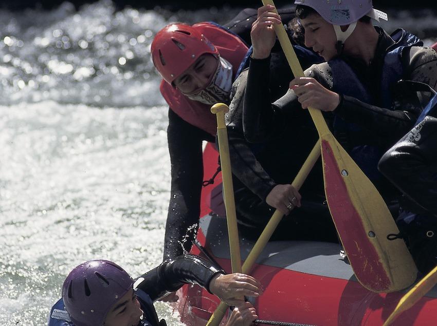 Rafting. Sauvetage.