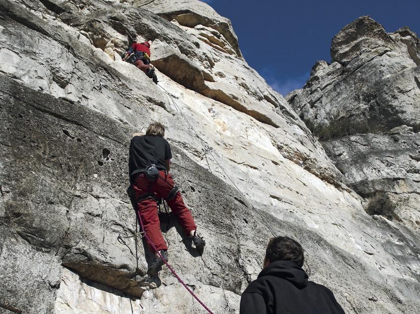 Climbing near the town of Siurana.  (Miguel Raurich)