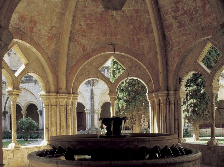 Interior of the washing area of the Royal Monastery of Santa Maria de Poblet