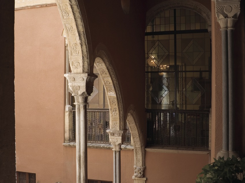 Fountain in Casa Castellarnau, home to the Museum of History of Tarragona.  (Nano Cañas)