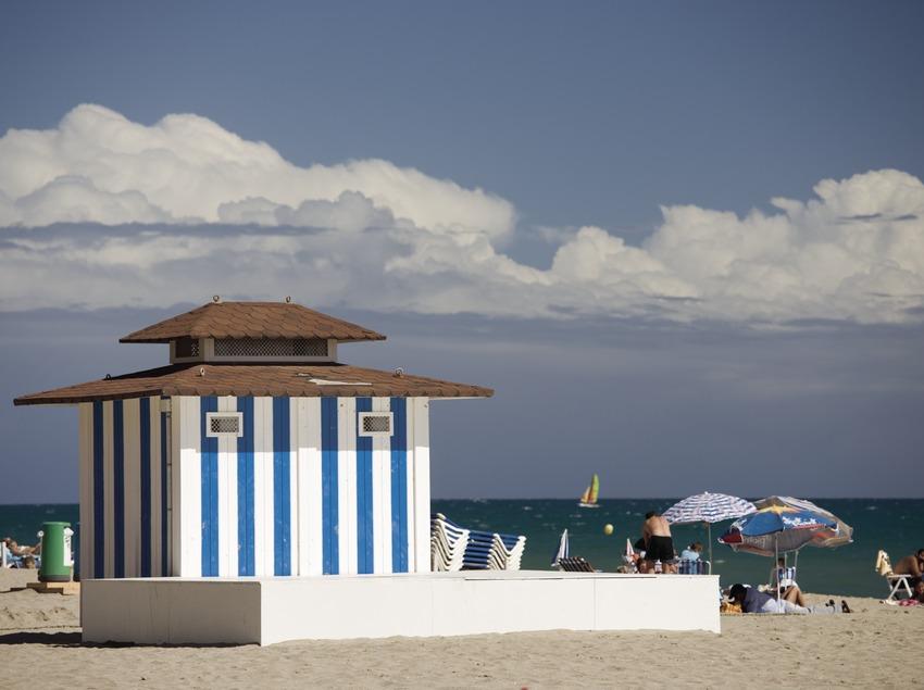 Playa de Calafell.