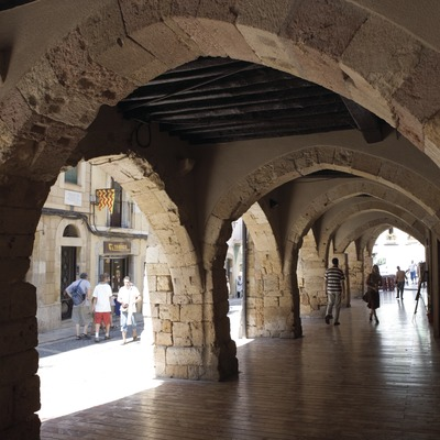 Bóvedas en la calle Merceria.  (Nano Cañas)