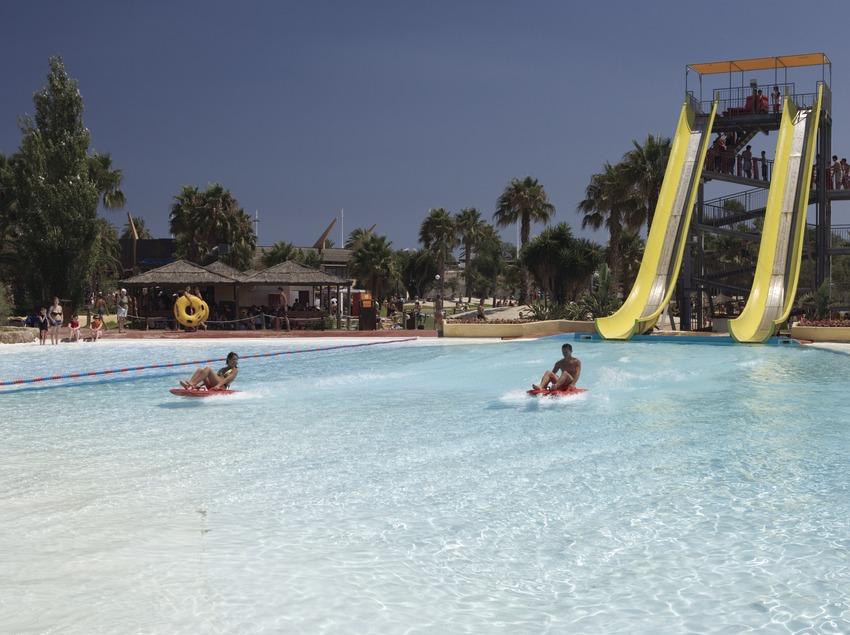 Schwimmbad im Wasserpark Aquopolis.  (Nano Cañas)