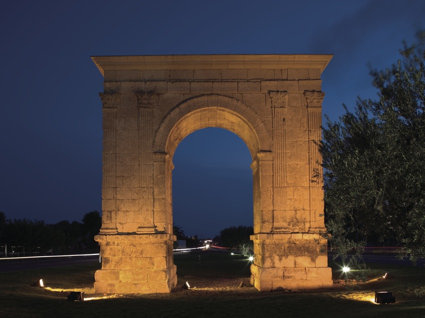 Nachtansicht von l'Arc de Berà.  (Nano Cañas)