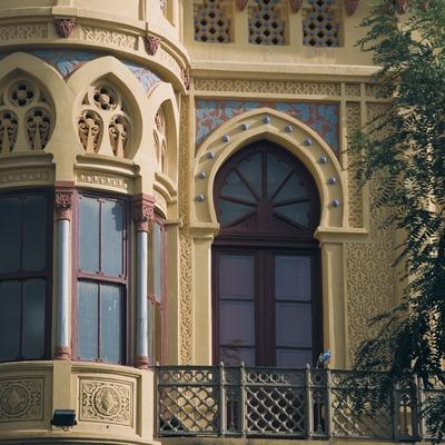 Detalle de la fachada del Nou Casino de la Constància  (Servicios Editoriales Georama)