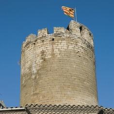 Torre cilíndrica del castillo de Verdú