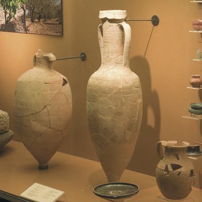 Ánfora romana (siglo I. a.C.) de la sala de arqueología del Museo Comarcal de l'Urgell  (Servicios Editoriales Georama)