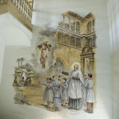 Pinturas murales de la iglesia del convento de Sant Bartomeu  (Servicios Editoriales Georama)
