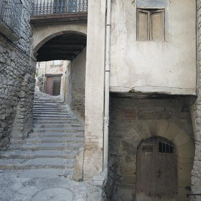 Mittelalterliche Zufahrtstraße zu der Kirche Sant Sebastià  (Servicios Editoriales Georama)