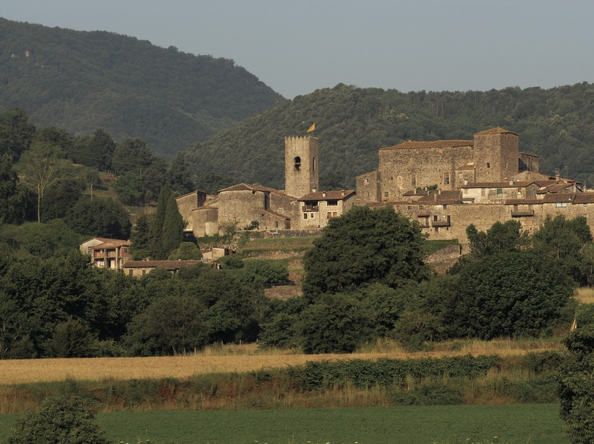 View of the locality in La Garrotxa Volcanic Area Natural Park.