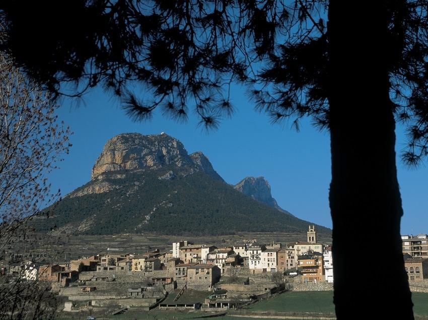 Vista de la localidad con el Puig d'Espies  (Servicios Editoriales Georama)