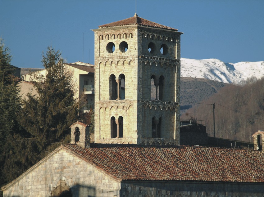 Bell tower of the church of Santa Cecília