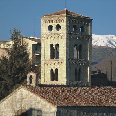 Torre-campanario de la iglesia de Santa Cecília
