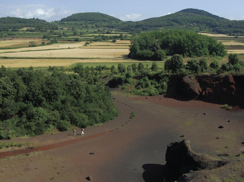 Der Vulkan Croscat im Naturpark Vulkane der La Garrotxa.  (José Luis Rodríguez)