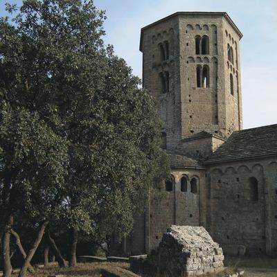 Campanar de la canònica de Sant Pere de Ponts  (Servicios Editoriales Georama)