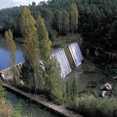 Resclosa al riu Llobregat.