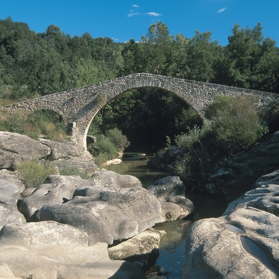 Puente medieval de Merlès  (Servicios Editoriales Georama)