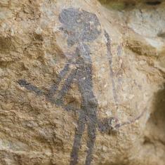 El Bruixot, pintura rupestre en l'Abric I d'Ermites