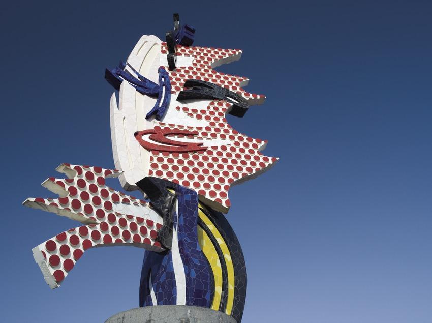 El Cap de Barcelona de Roy Liechtenstein en el Paseo Colom.  (Nano Cañas)