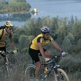 Mountain biking. Banyoles.