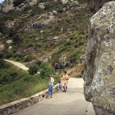 Entrance road to Sant Pere de Rodes monastery in Cap de Creus Natural Park