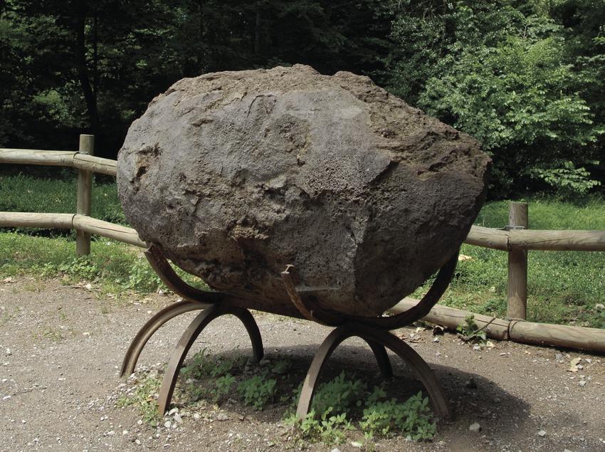 Versteinerte Lava im Vulkanmuseum im Naturpark Vulkane der La Garrotxa.  (José Luis Rodríguez)