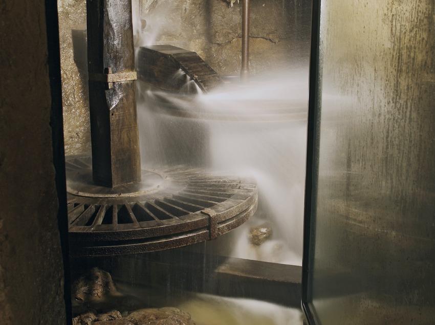 Molino hidráulico en el Molí de Les Tres Eres, sede el Museo de Historia de Cambrils  (Miguel Raurich)