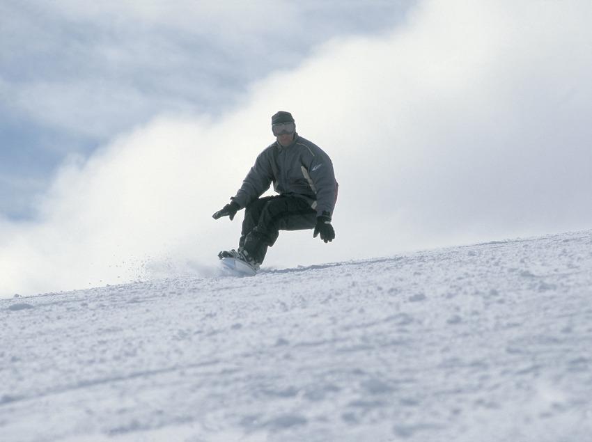 Snowboarding. Jumps.